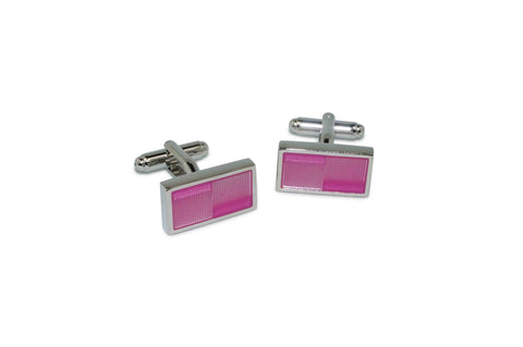 Pink Glass Cufflinks