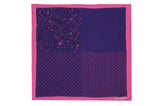 Pink Purple Patterns Silk Pocket Square