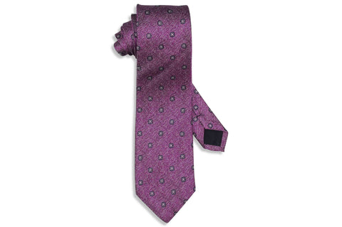 Pink Purple Silk Tie