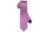 Pink Star Circle Silk Skinny Tie