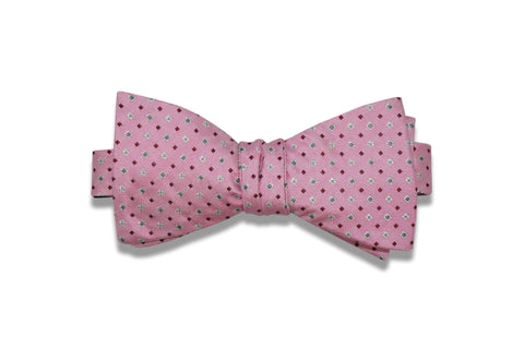 Pink Stars Silk Bow Tie (self-tie)