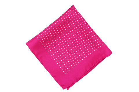 Pinkadot Silk Pocket Square