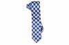 Plaid Blue Silk Skinny Tie
