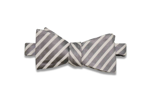 Platinum Aisle Silk Bow Tie (Self-Tie)