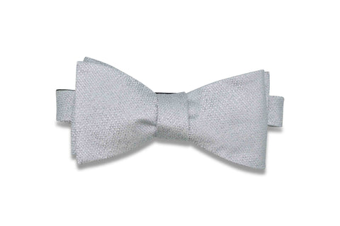 Platinum Textured Silk Bow Tie (self-tie)