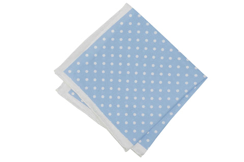 Powder Dots Silk Pocket Square