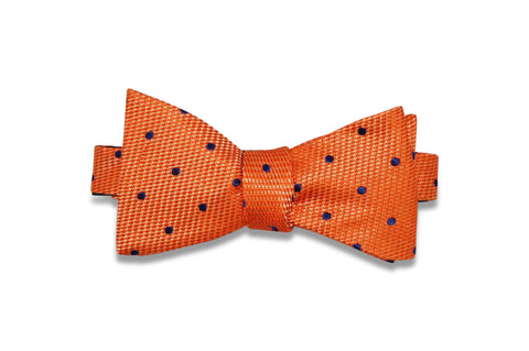 Pumpkin Dots Silk Bow Tie (self-tie)
