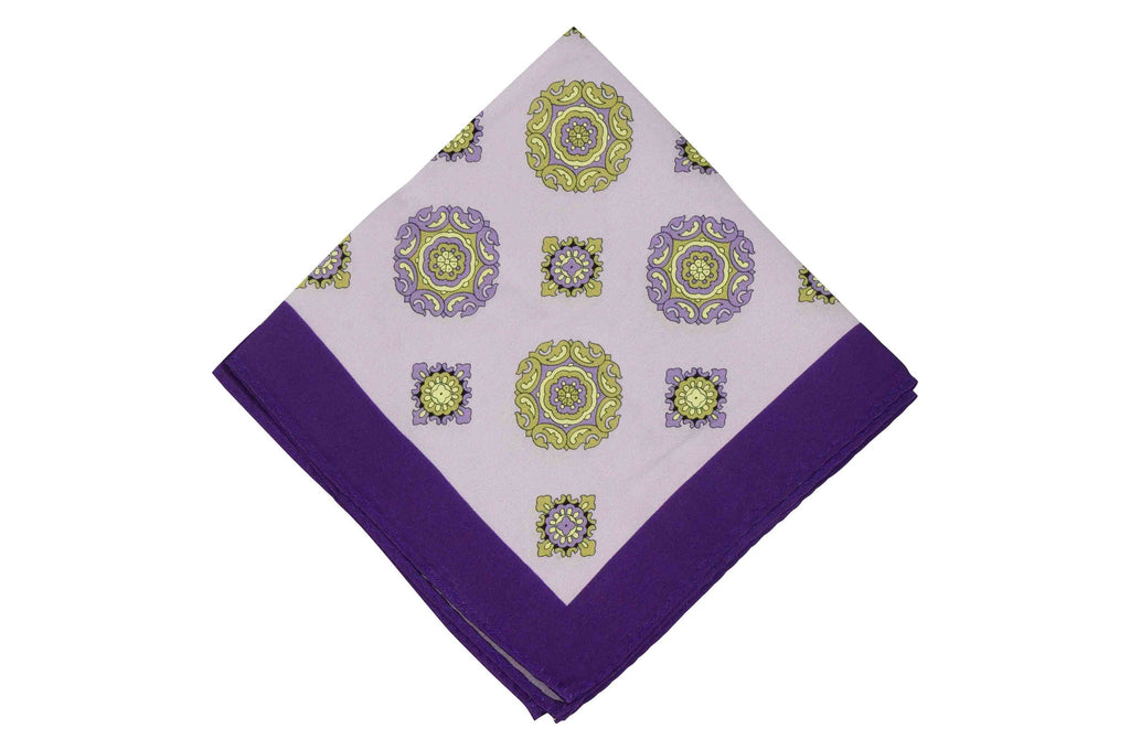 Purple Beam Silk Pocket Square