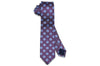 Purple Blue Flowers Silk Skinny Tie