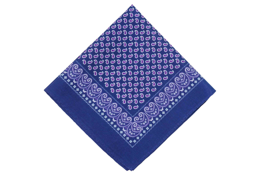 Purple Blues Cotton Pocket Square