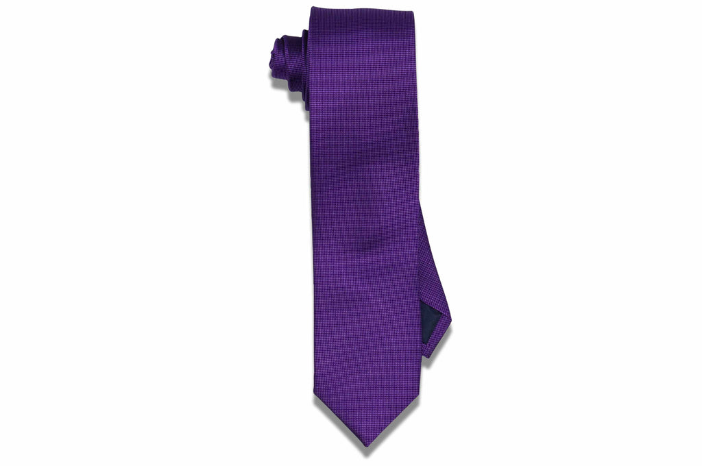 Purple Boxed Silk Skinny Tie