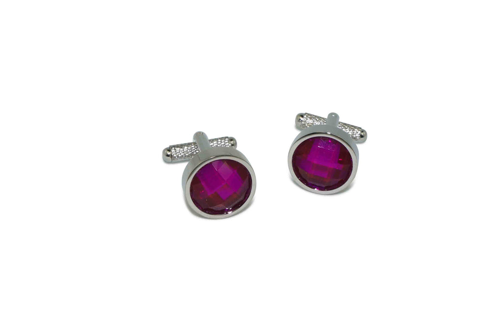 Purple Center Cufflinks