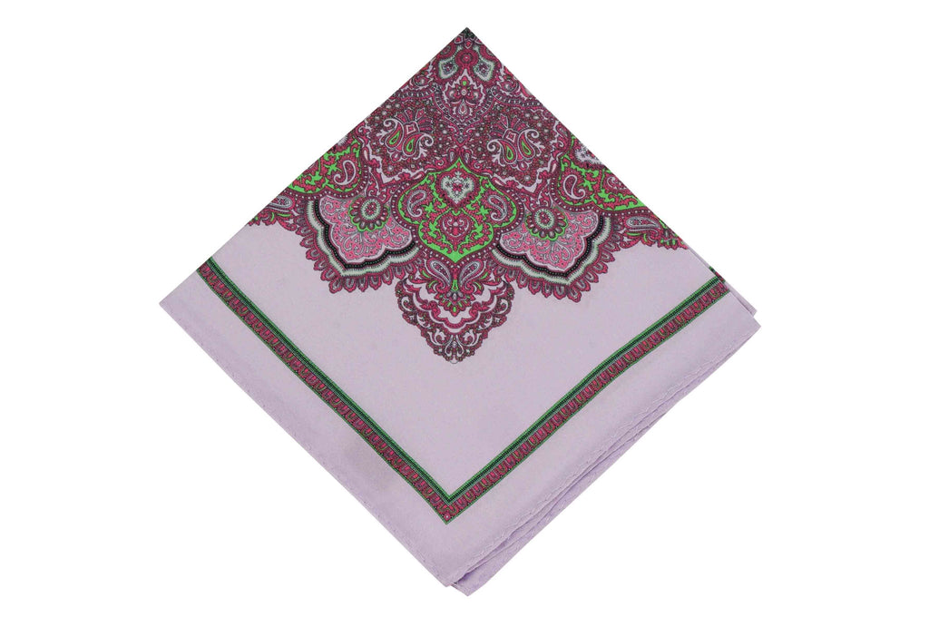 Purple Craze Silk Pocket Square
