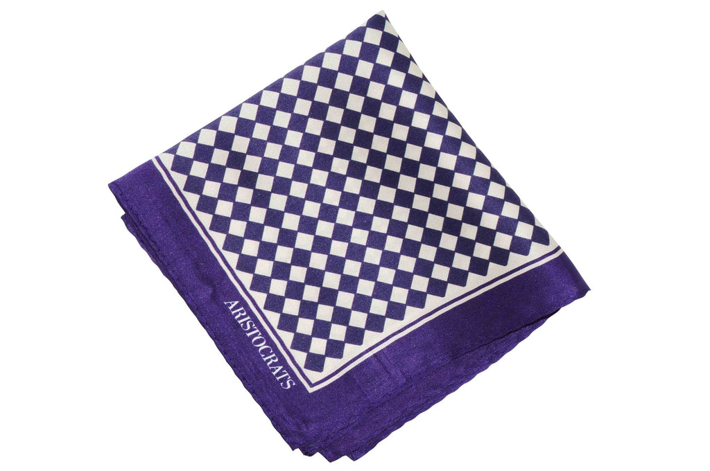 Purple Diamonds Silk Pocket Square