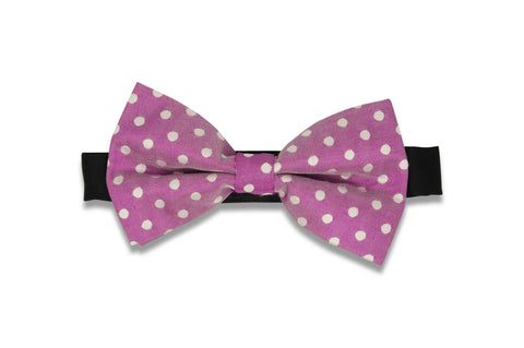 Purple Dotted Bow Tie (PRE-TIED)