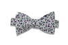 Purple Flowers Cotton Bow Tie (self-tie)