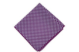 Purple Flowers Silk Pocket Square
