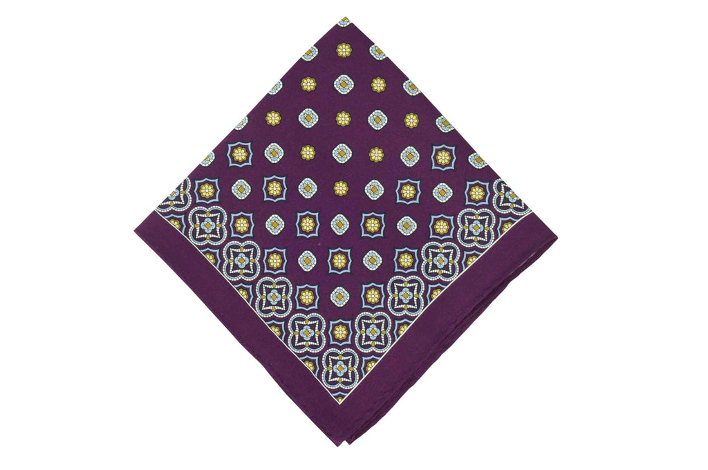 Purple Glow Silk Pocket Square