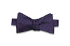 Purple Grained Silk Bow Tie (Self-Tie)
