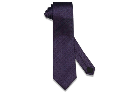 Purple Grained Silk Tie