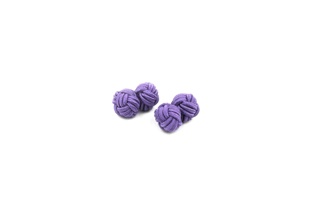 Purple Knotted Cufflinks