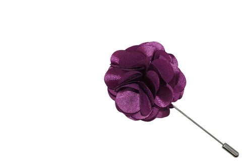 Purple Lap Lapel Flower