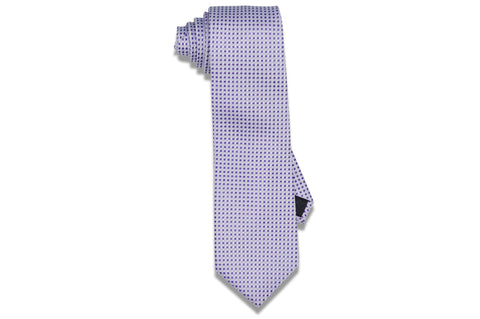 Purple Mini Squares Silk Tie