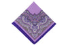 Purple Mix Cotton Pocket Square