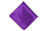 Purple Silk Pocket Square