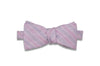 Purple Striped Linen Bow Tie (Self-Tie)