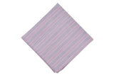 Purple Striped Linen Pocket Square