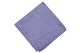 Purple Triangle Silk Pocket Square
