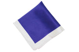 Purple White Border Silk Pocket Square