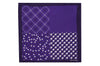 Purple White Patterns Silk Pocket Square
