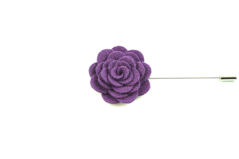 Purple Wool Lapel Flower