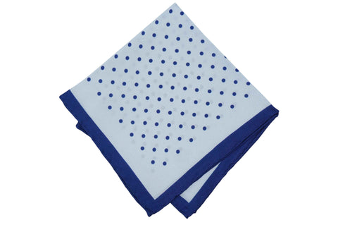 Raining Dots Silk Pocket Square