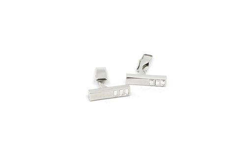 Rectangle Crystals Cufflinks