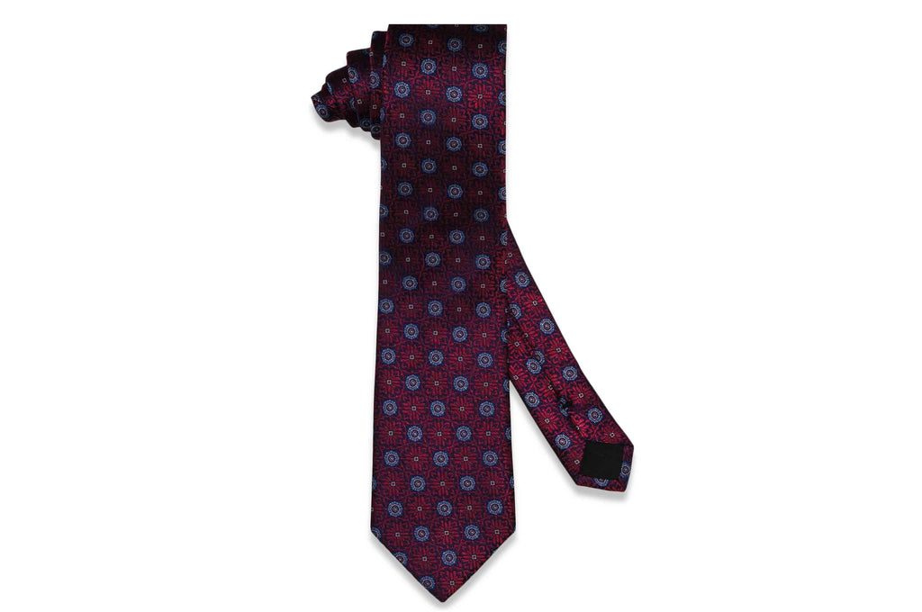 Red Bloom Silk Tie