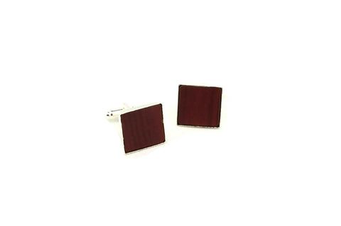 Red Brown Wood Cufflinks