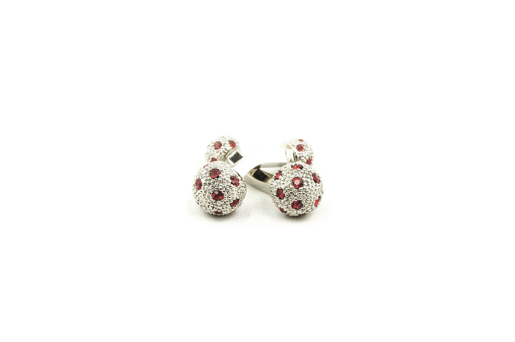 Red Crystals Cufflinks