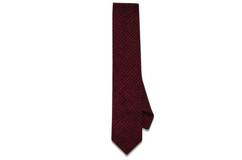Red Dazed Wool Skinny Tie