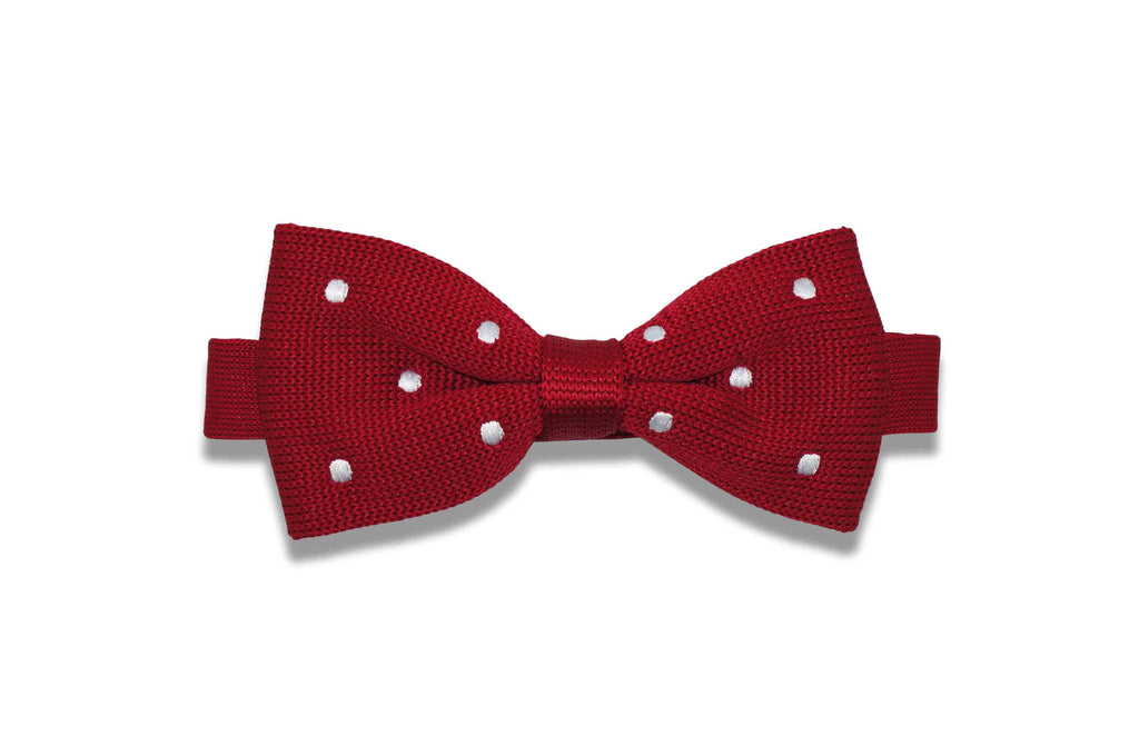 Red Delicious Knitted Bow Tie (pre-tied)