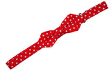 Red Dotted Cotton Bow Tie (Boys)