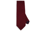 Red Houndstooth Wool Tie