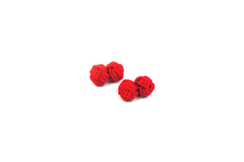 Red Knotted Cufflinks