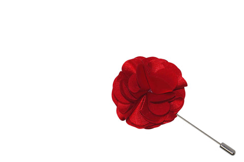 Red Lap Lapel Flower