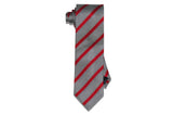 Red Ribbon Stripes Silk Tie