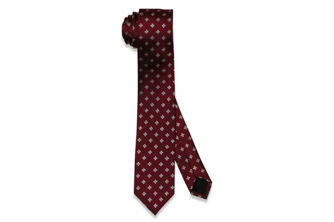 Red Shields Silk Skinny Tie