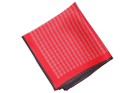 Red Squared Silk Pocket Square