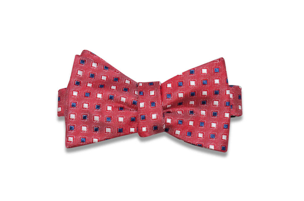 Reddy Squares Silk Bow Tie (Self-Tie)